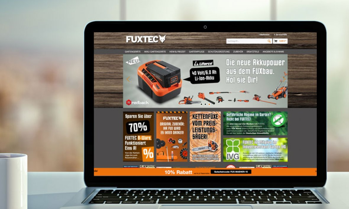 Webdesign E-Commerce FUXTEC